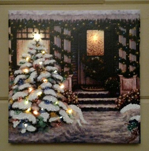 Christmas Front Door Canvas