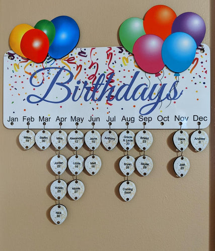 Birthday Board Wall Hanging - Incredible Keepsakes
