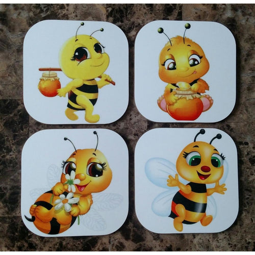 Bee Coasters - Incredible Keepsakes