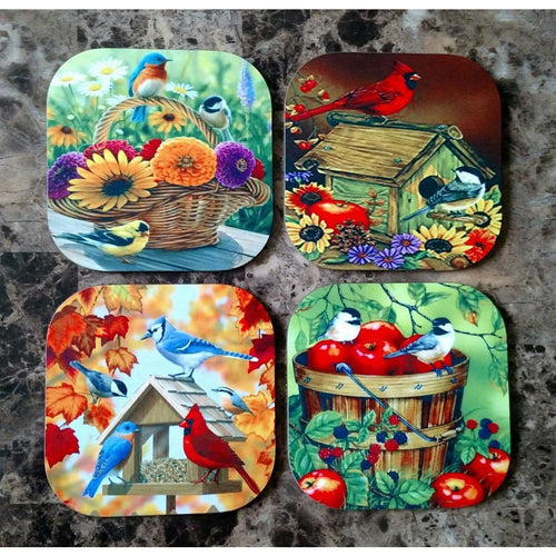 Fall Birds Coasters - Incredible Keepsakes