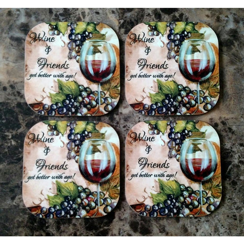 Wine & Friends Coasters - Incredible Keepsakes