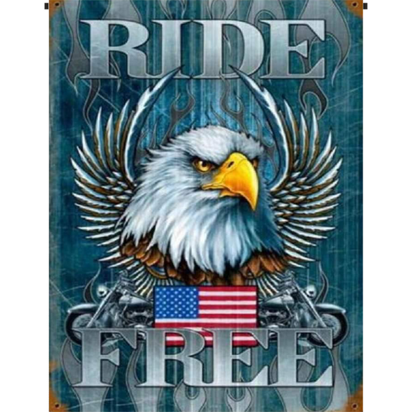 Ride Free Garden Flag - Incredible Keepsakes