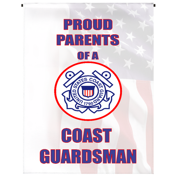 Proud Parents of U.S. Coast Guardsman Garden Flag - Incredible Keepsakes
