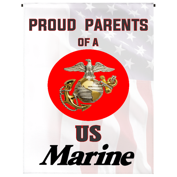 Proud Parents of U.S. Marine Garden Flag - Incredible Keepsakes