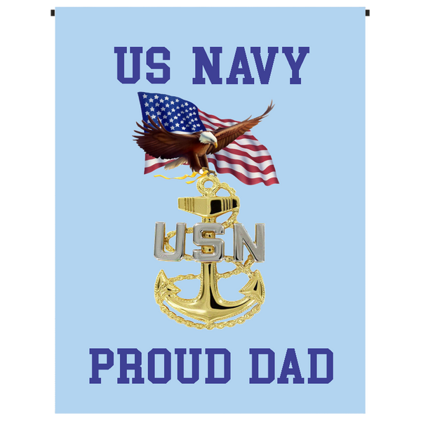 U.S. Navy Proud Dad Garden Flag - Incredible Keepsakes