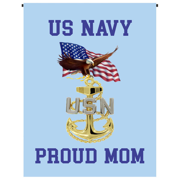 U.S. Navy Proud Mom Garden Flag - Incredible Keepsakes