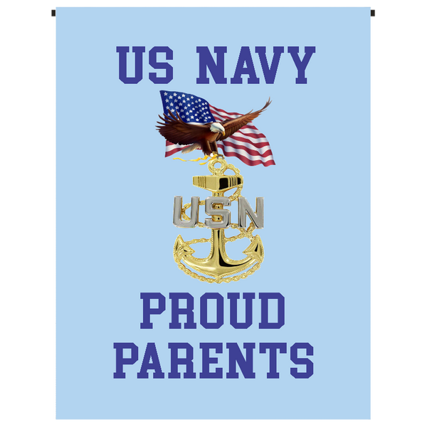 U.S. Navy Proud Parents Garden Flag - Incredible Keepsakes