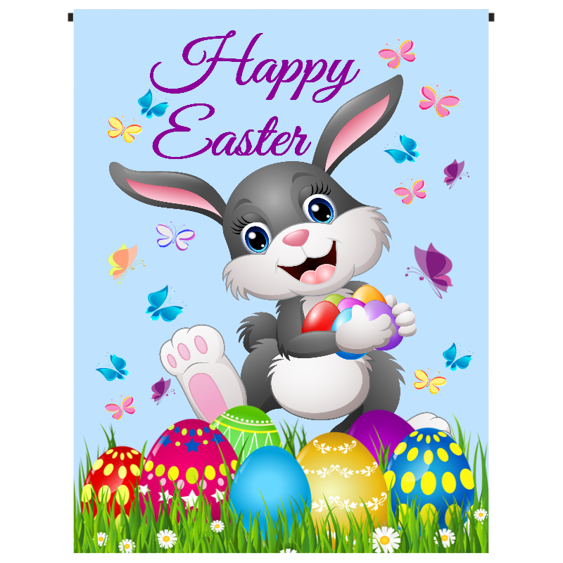 Happy Easter Bunny Garden Flag - Incredible Keepsakes