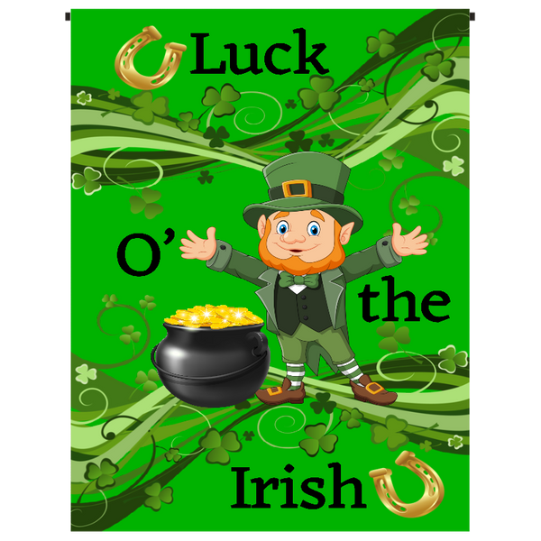 Luck O' the Irish Day Garden Flag - Incredible Keepsakes