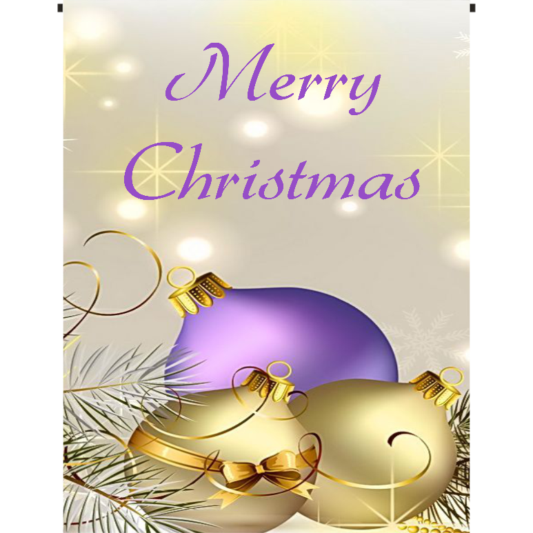 Merry Christmas-Purple and Gold Garden Flag - Incredible Keepsakes