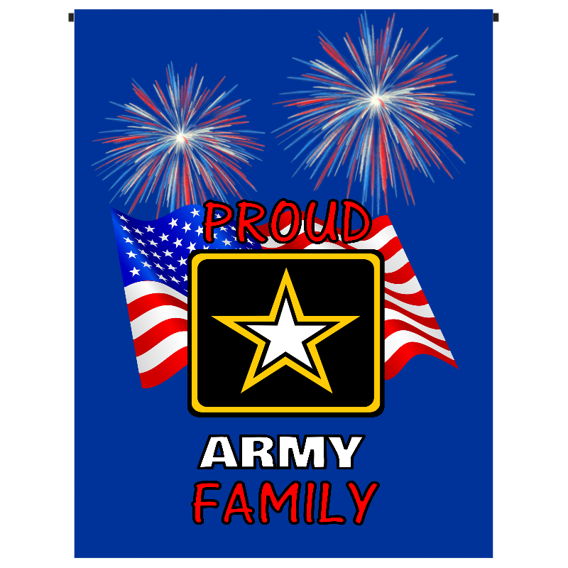 Proud Army Family Garden Flag - Incredible Keepsakes