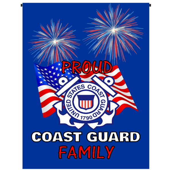 Proud Coast Guard Family Garden Flag - Incredible Keepsakes