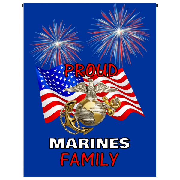 Proud Marines Family Garden Flag - Incredible Keepsakes