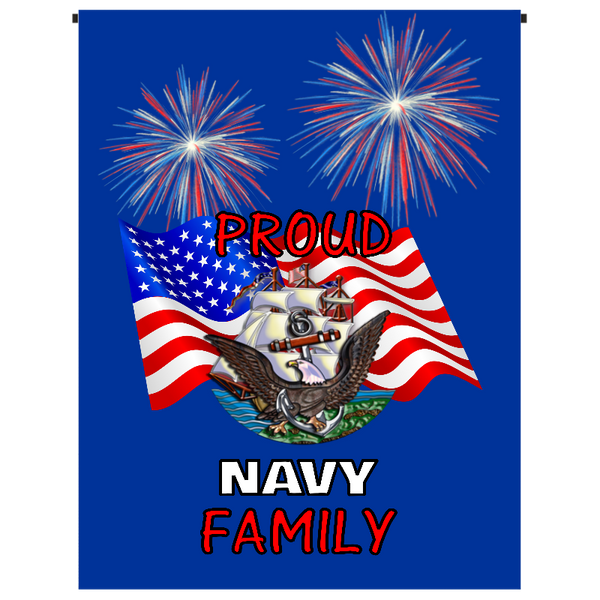 Proud Navy Family Garden Flag - Incredible Keepsakes