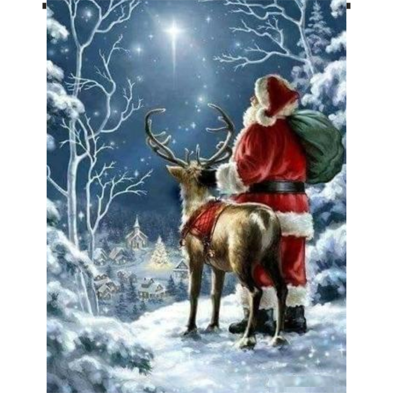 Santa and Reindeer Garden Flag - Incredible Keepsakes