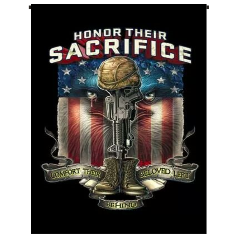 Honor Their Sacrifice Garden Flag