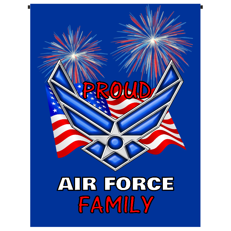 Proud Air Force Family Garden Flag - Incredible Keepsakes