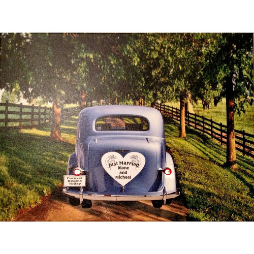 Just Married Car Canvas - Incredible Keepsakes