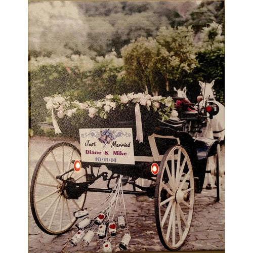 Just Married Carriage Canvas - Incredible Keepsakes