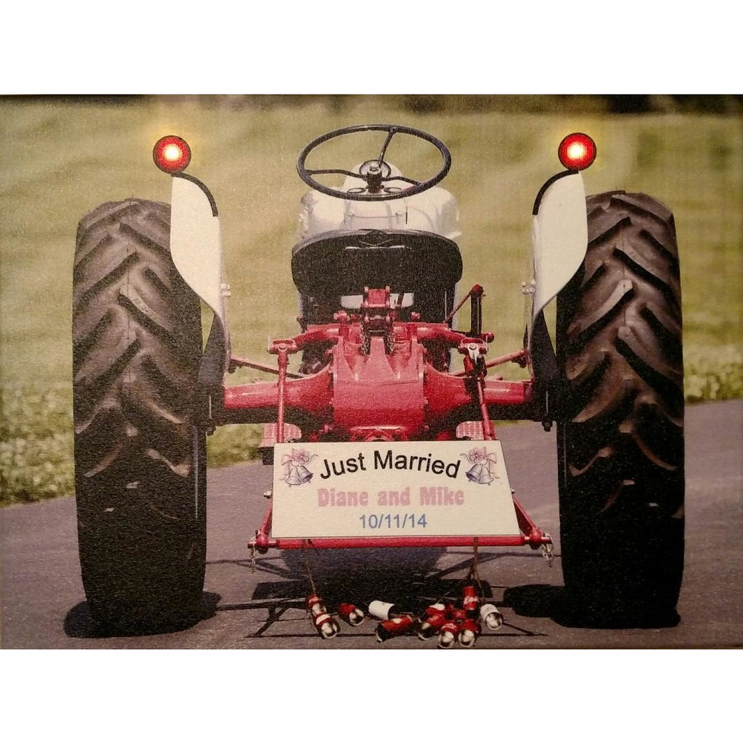 Just Married Tractor Canvas - Incredible Keepsakes