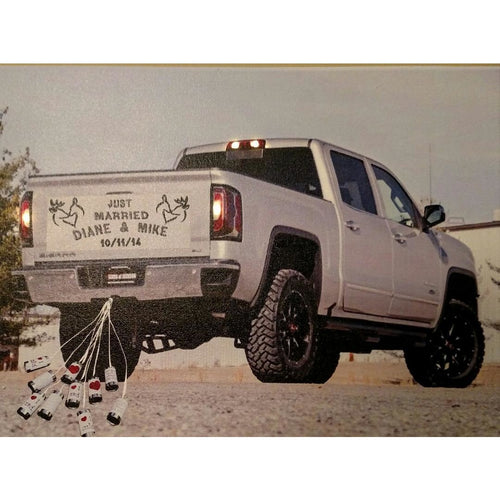 Just Married Truck Canvas - Incredible Keepsakes
