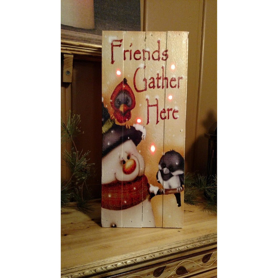 Friends Gather Here Pallet Wood Art - Incredible Keepsakes