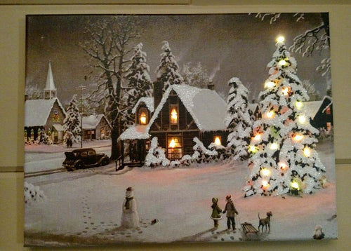 The Amazing Christmas Tree Canvas