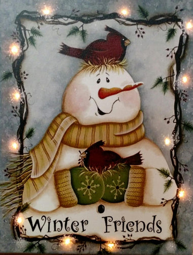 Winter Friends Canvas