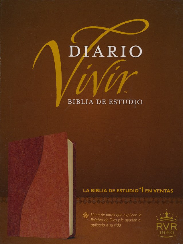 Biblia Diario Vivir RVR 1960, Piel Imit. Cafe/Cafe Claro, Ind. (RVR 1960 Life Appl. Bible, Imit. Leather Brown/Tan Ind.)