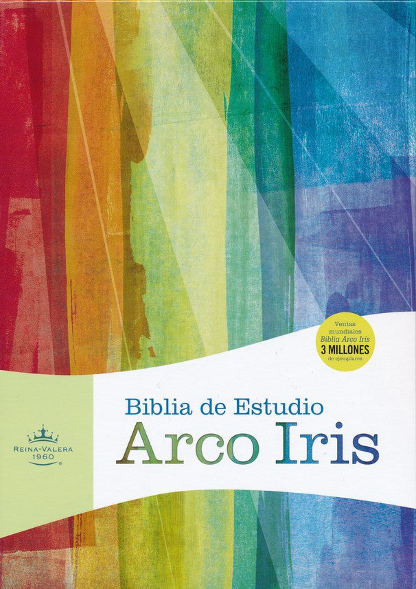 Biblia de Estudio Arco Iris RVR 1960, Piel Imit. Negra (RVR 1960 Rainbow Study Bible, Black Imitation Leather)