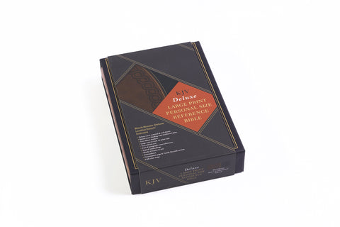 KJV Large Print Personal Size Reference Bible, Black & Brown Deluxe  LeatherTouch, Thumb-Indexed