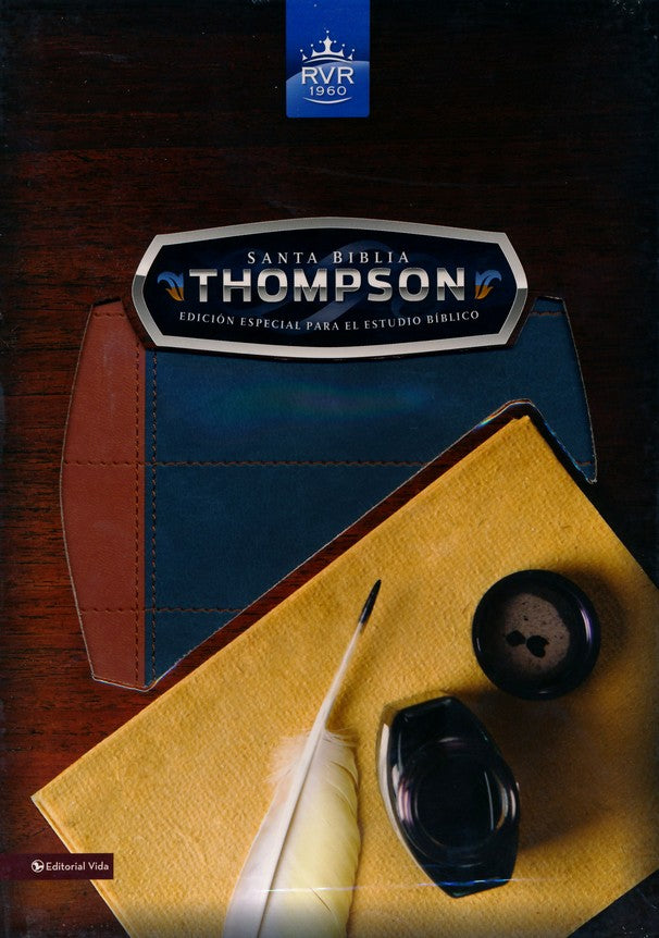 Santa Biblia Thompson Edicion Especial Para El Estudio Biblico-Rvr 1960, Imitation Leather, Blue/Orange