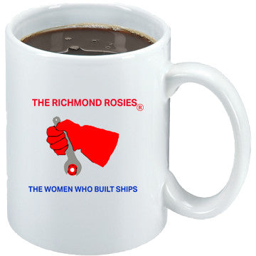 THE RICHMOND ROSIES LOGO COFFEE MUG  15 oz.