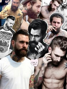 Beard Style Collage