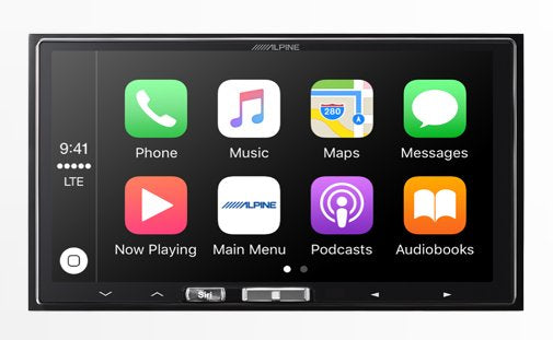 Alpine iLX-107 Digital Media Receiver | Wireless Apple CarPlay - Lockdown Security