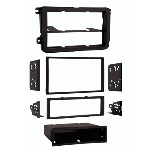Metra 99-9011 Volkswagen 2005-2009 VW Double DIN and Single DIN Dash Kit - Lockdown Security