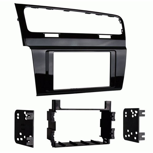 Metra 99-9013HG 2015-Up Volkswagen Golf Double DIN Dash Kit | High Gloss Black - Lockdown Security