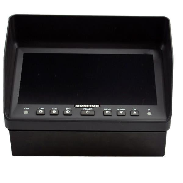 "BRVISION BR-TM7001-DD 7"" LCD Monitor with Double DIN Mount Bracket and 2-Channel Video Input - Lockdown Security"