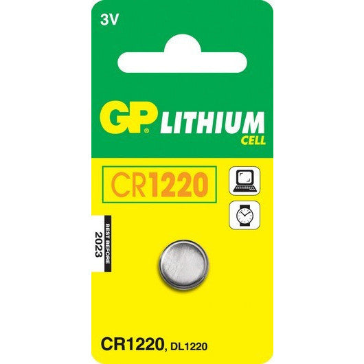 GP Batteries CR1220 3 Volt Battery (single) - Lockdown Security