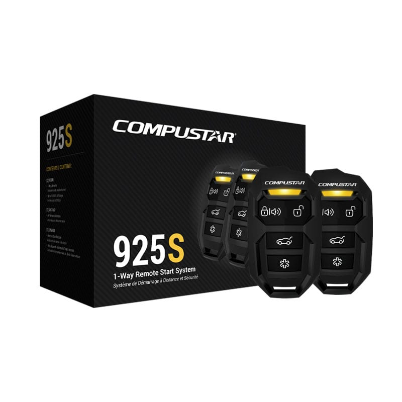 Compustar CS925-S 1-Way Remote Starter - Lockdown Security
