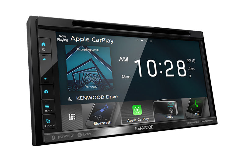 Kenwood DDX6706S Multimedia Receiver with Apple CarPlay and Android Auto - Lockdown Security