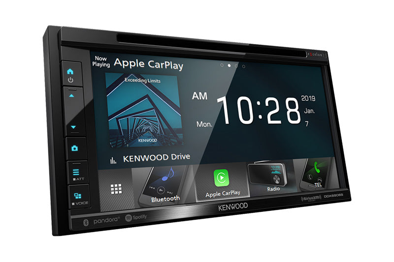 "Kenwood Excelon DDX6906S 6.8"" DVD Receiver with Bluetooth, Apple CarPlay and Android Auto - Lockdown Security"