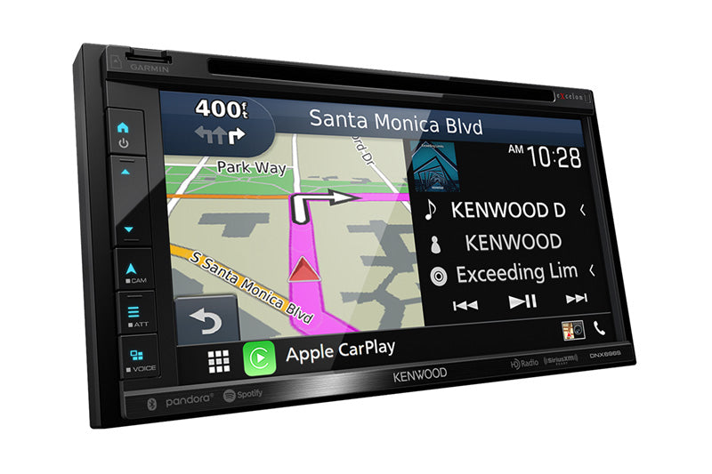 Kenwood Excelon DNX697S GPS Navigation Receiver with Apple CarPlay and Android Auto - Lockdown Security