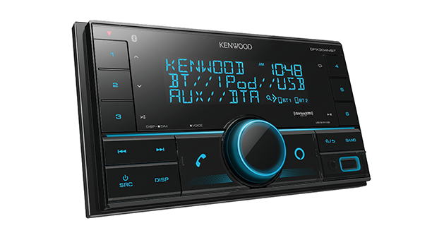 Kenwood DPX304MBT I 2-Din Digital Media Receiver with Bluetooth - Lockdown Security