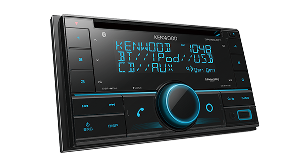 Kenwood DPX504BT 2-DIN CD Receiver with Bluetooth - Lockdown Security