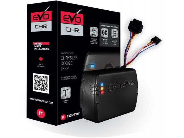 Fortin EVO-CHRT5 Plug and Play Remote Starter for Chrysler/Dodge/Jeep | KEY Start Vehicles Only - Lockdown Security