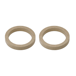 "FM-SR6 MDF Speaker Ring Pair | 6"" Diameter x 1/2"" Thick - Lockdown Security"