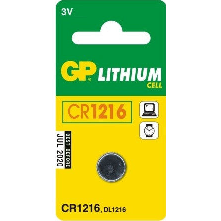 GP Batteries CR1216 3 Volt Battery (single) - Lockdown Security