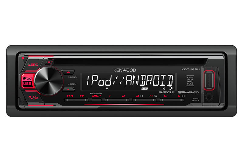 Kenwood KDC-168U CD Receiver with Front USB & AUX inputs - Lockdown Security