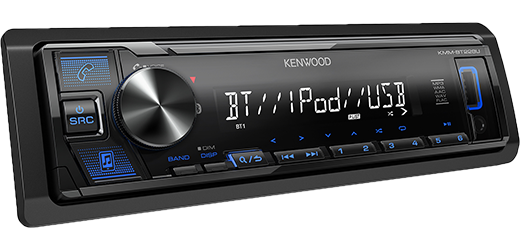 Kenwood KMM-BT228U Digital Media Receiver with Bluetooth - Lockdown Security